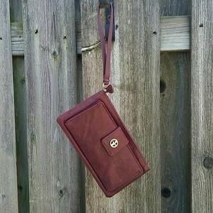 NWOT Giani Bernini Leather Wristlet or Wallet